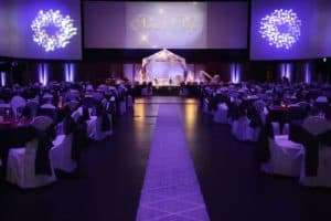 the isle for a wedding at infinity park event centers ballroom