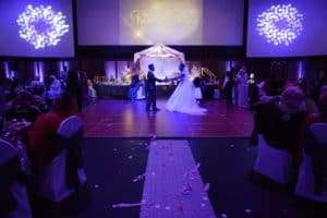 first dance at their wedding at infinity park event center
