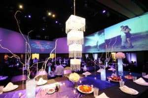 beautiful wedding chandelier at infinity park event center