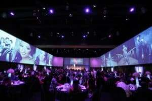 people gather and enjoy a wedding at infinity park event center