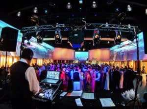DJ playing music at a prom venue
