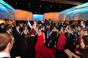 Dance off at a prom
