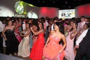 Line dancing at a prom