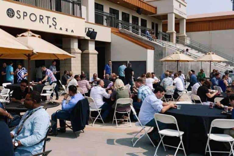 small outdoor event venue at Infinity Park Event Center