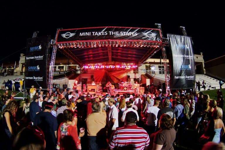 Outdoor concert on the festival plaza and stadium at Infinity Park