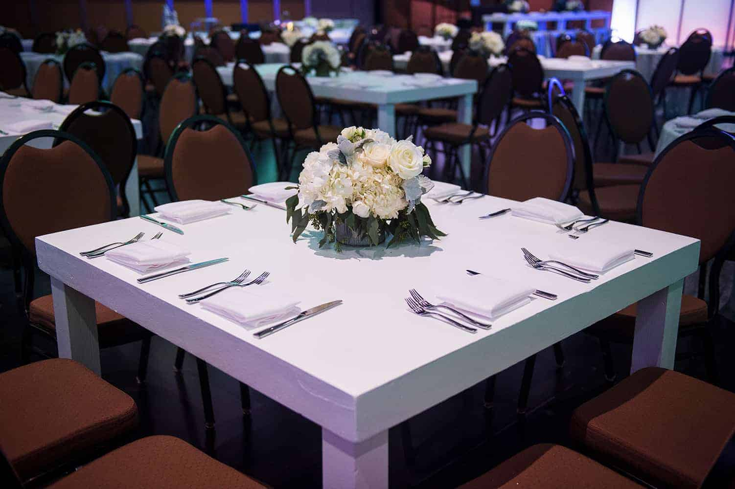 The table is set in the International Ballroom