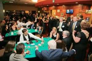 Poker tables for poker night at Infinity Parks small event venue