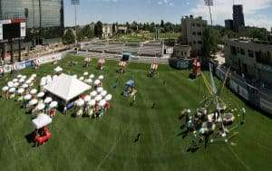 large outdoor event set up at Infinity Park