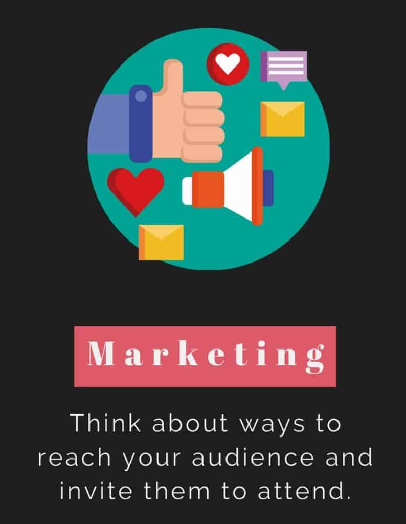 Marketing for your event