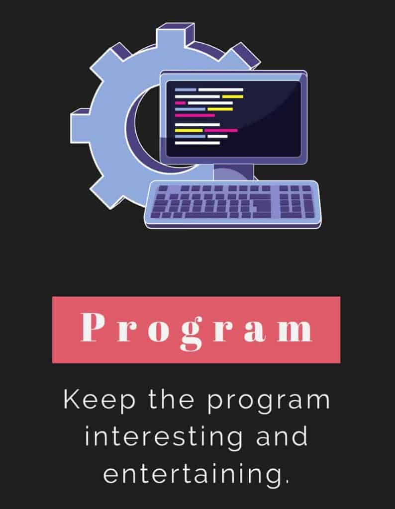 Keep your event programming interesting